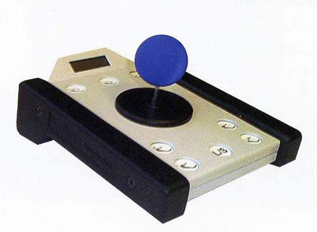 Abbildung der 'Joymaus' mit Joystick zur Steuerung und besonders großen Tasten
