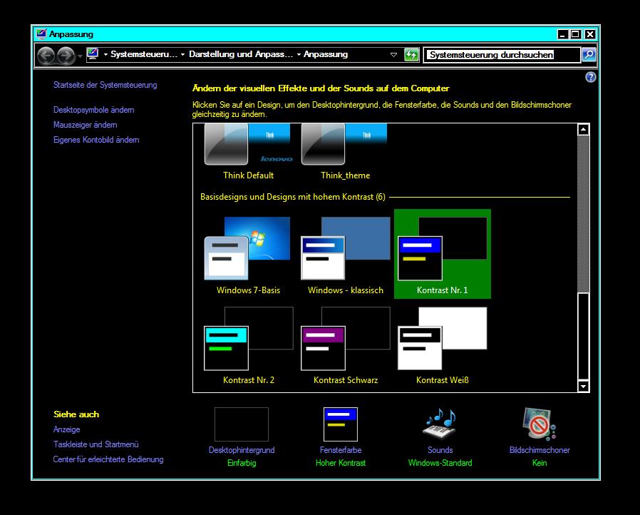 Kontrast-Schwarz-Bildschirm
